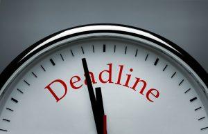 deadline voor je boekj