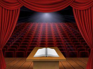 Met je boek op het podium