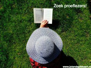 Zoek proeflezers voor je boek