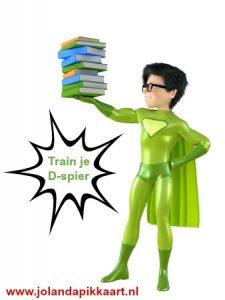 Train je D-spier en ga schrijven