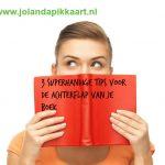 3 Superhandige tips voor de achterflap van je boek